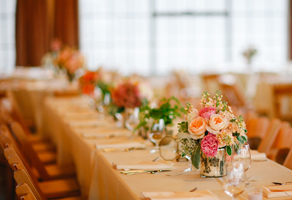 Wedding reception long head table