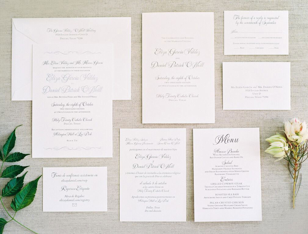 Southern Fried Paper wedding invitation suite