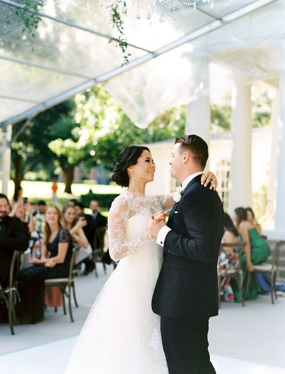Bride and groom first dance at Arlington Hall