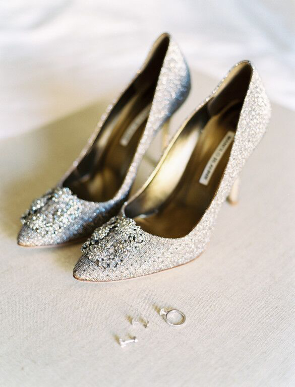 Manolo Blahnik wedding day shoes
