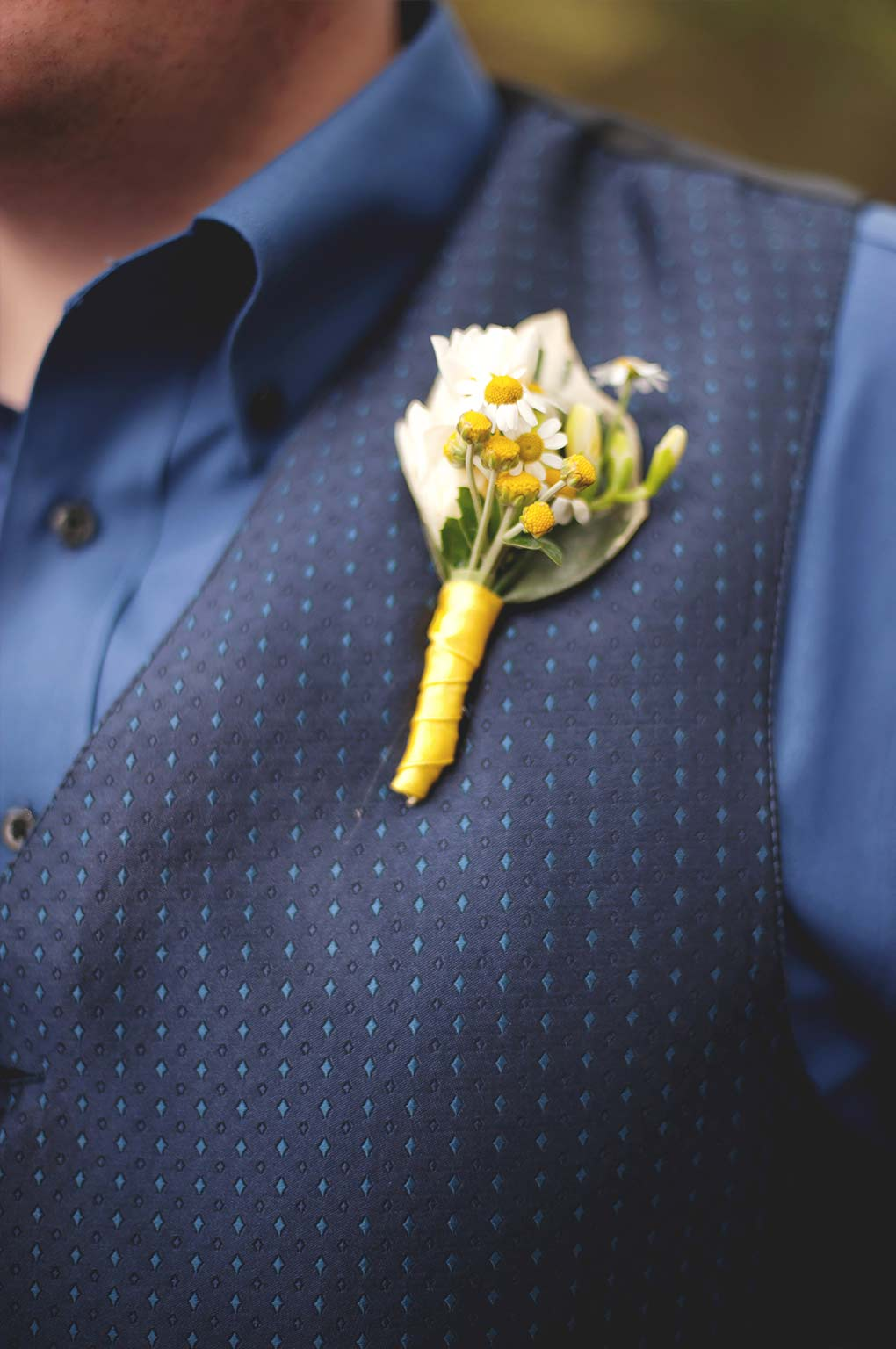 Yellow and White Boutonnieres