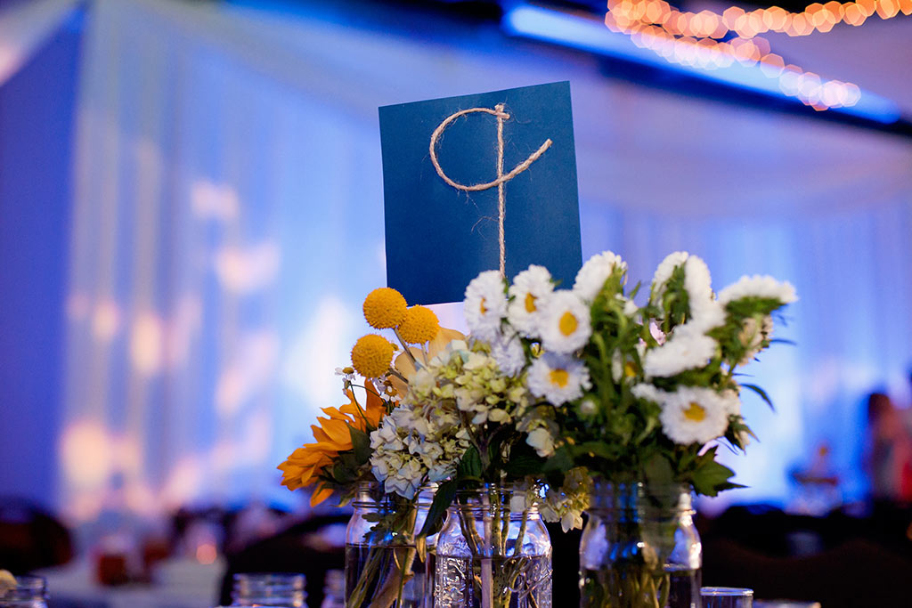 rope wedding reception table number