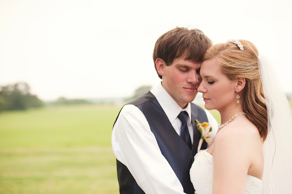 Bride and Groom at Texas Ranch Wedding on Lake Granbury