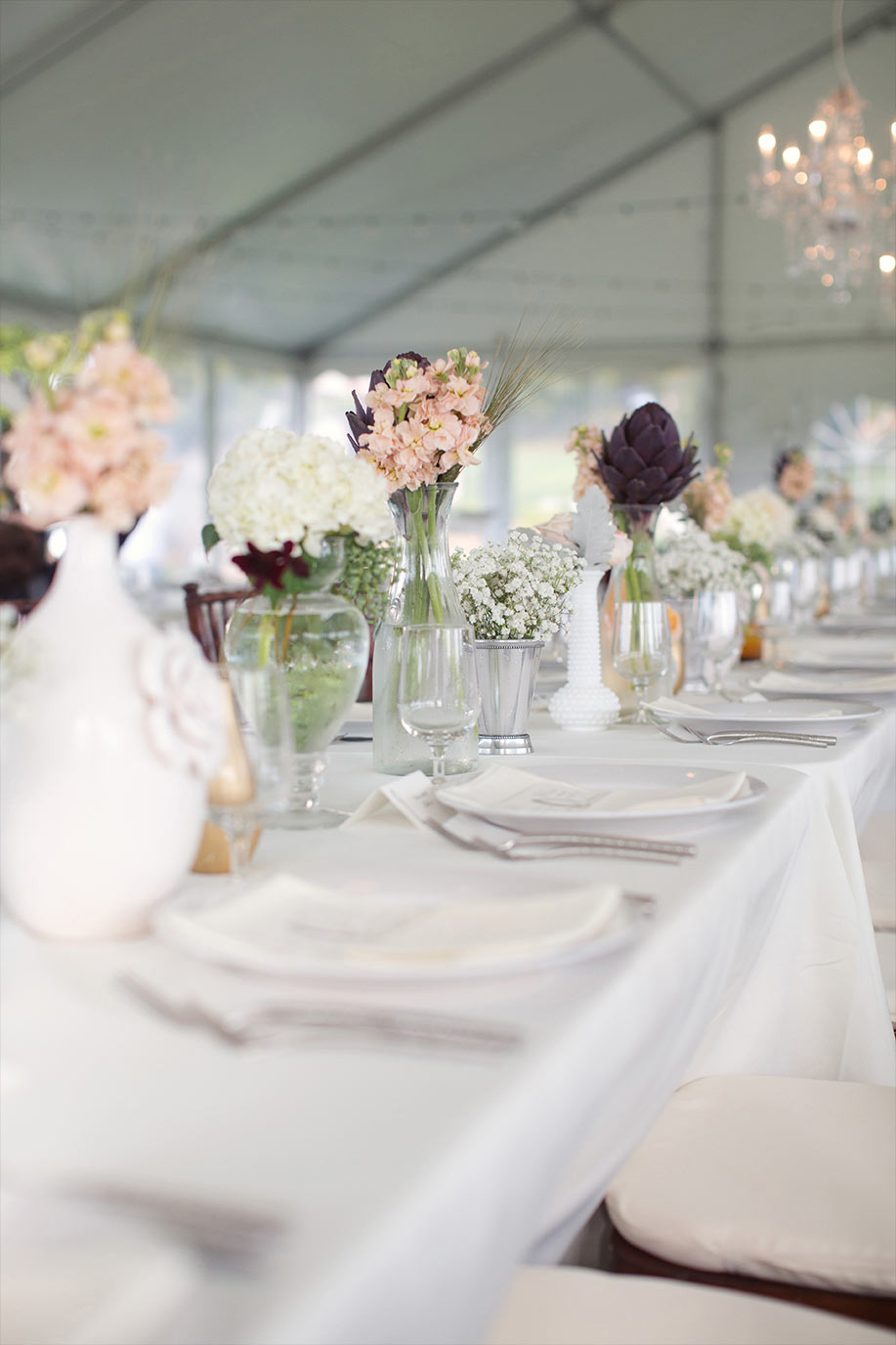 Tented Wedding Reception Table