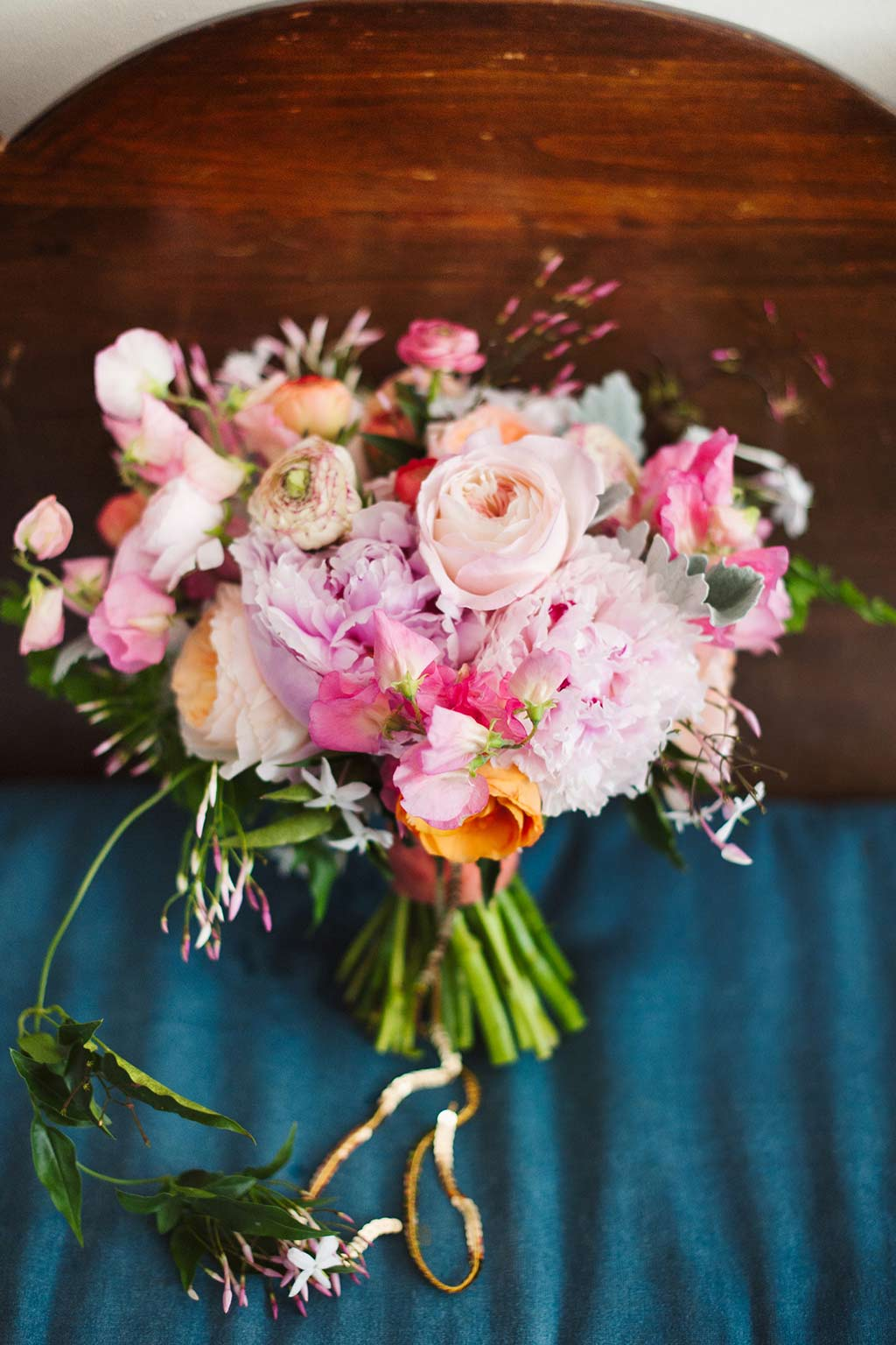 Bridal Pink and Peach Bouquet