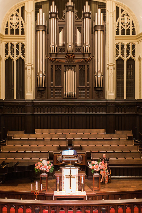 Wedding ceremony at First United Methodist in Dallas